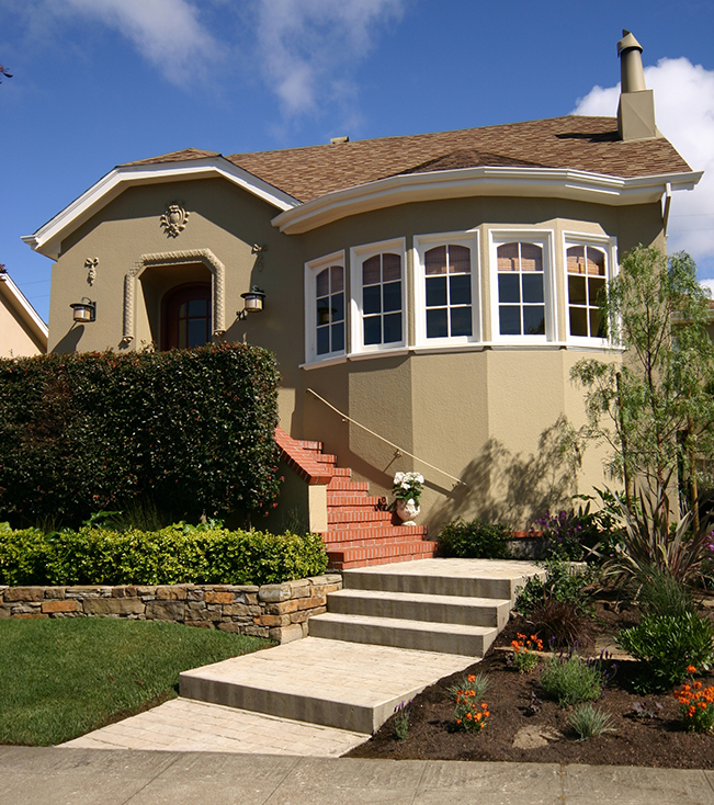 San Francisco Architecture, San Francisco interior design, exterior shot, exterior design, landscape design,