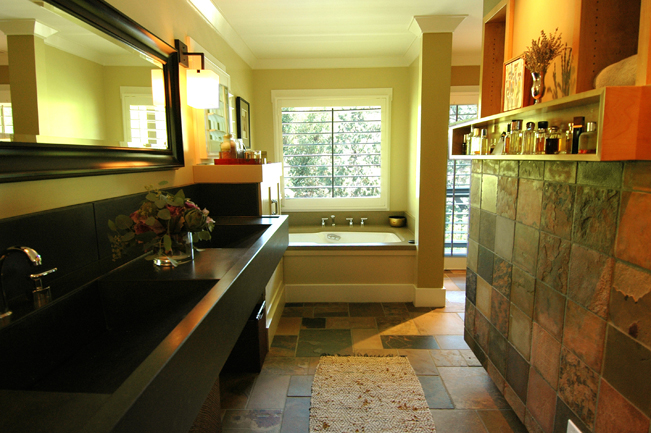 Sonoma, master bathroom, concrete sink,  Contemporary Interior Design, Remodel, Spa feel, Interior design, High end