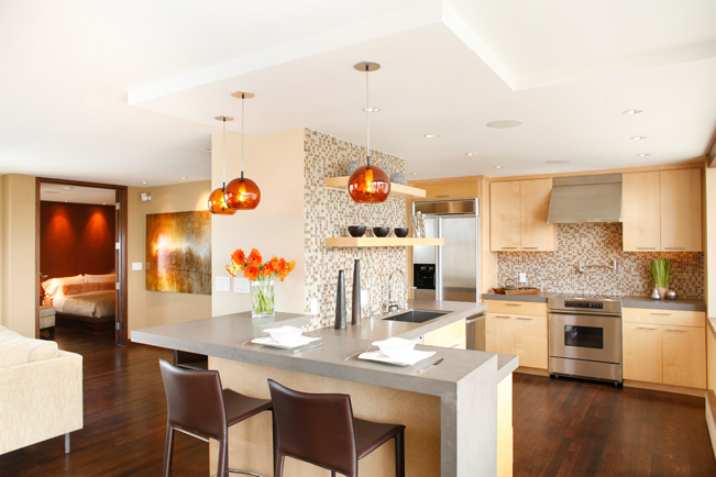 modern kitchen, san francsico, chestunut st., remodel kitchen, high rise, interior architecture, open kitchen